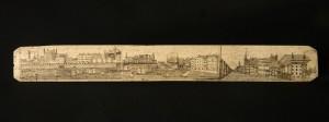 Rzezbiona brykla z fiszbinu, I-sza połowa XIX wieku