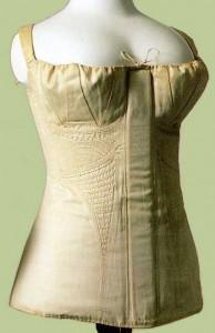 Długi gorset lata 20-ste XIX w. [The Kyoto Costume Intitute, Japonia]