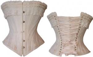 Gorset z białej bawełny ok 1901 r. [Kolecja prywatna]